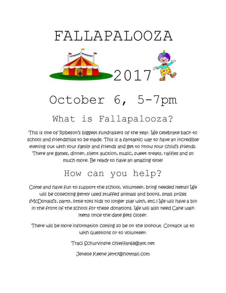 FALLAPALOOZA FLIER 2017