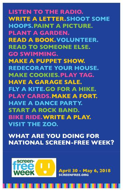 Screen Free Week Activities